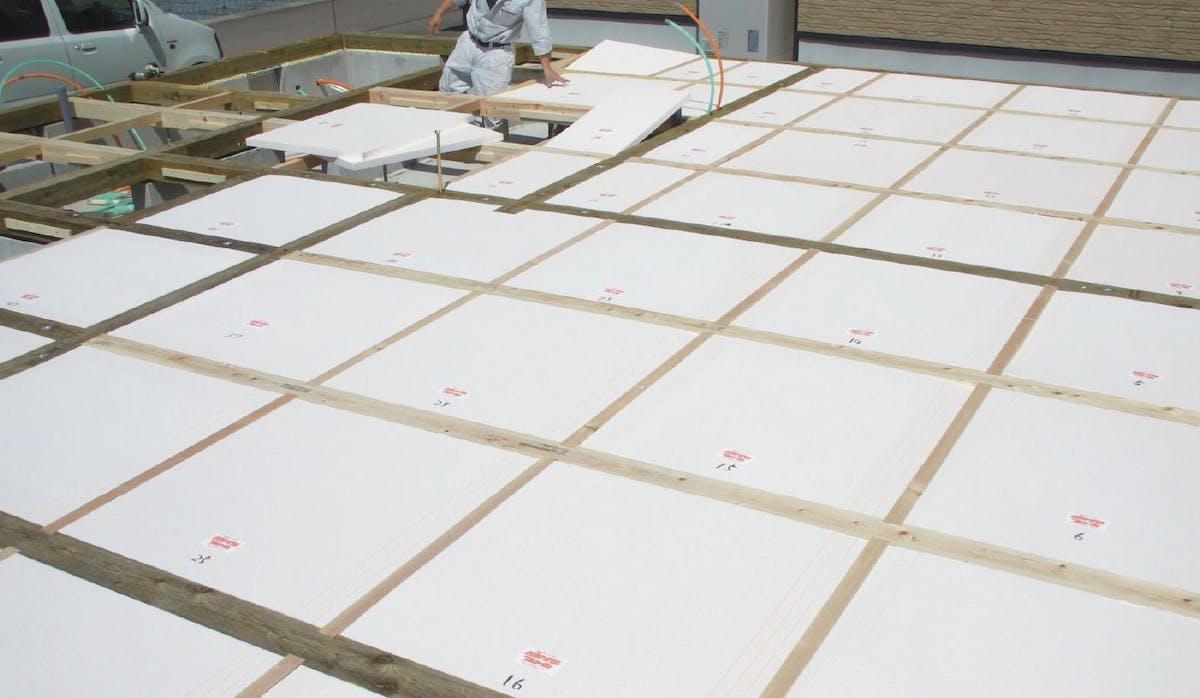断熱材パイナルフォームの施工写真